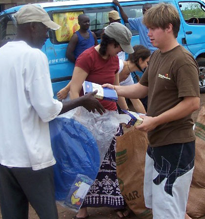 Austin Arnold - Bibles and relief supply distrubution in rual Zambia